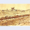 Landscape with alphonse daudet s windmill 1888