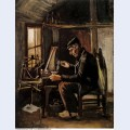 Man winding yarn 1884