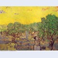Olive grove with picking figures 1889