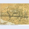 Orchard with blossoming plum trees the white orchard 1888