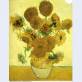 Still life vase with fifteen sunflowers 1888 1