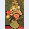 Still life vase with rose mallows 1890 1