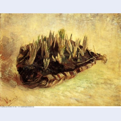 Still life with a basket of crocuses 1887