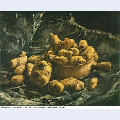 Still life with an earthern bowl and potatoes 1885