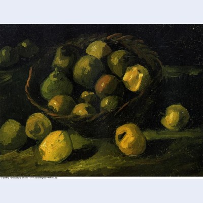 Still life with basket of apples 1885