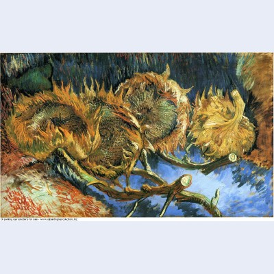 Still life with four sunflowers 1887