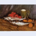 Still life with mackerels lemons and tomatoes 1886