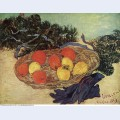 Still life with oranges and lemons with blue gloves 1889