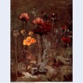 Still life with scabiosa and ranunculus 1886
