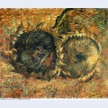 Still life with two sunflowers 1887