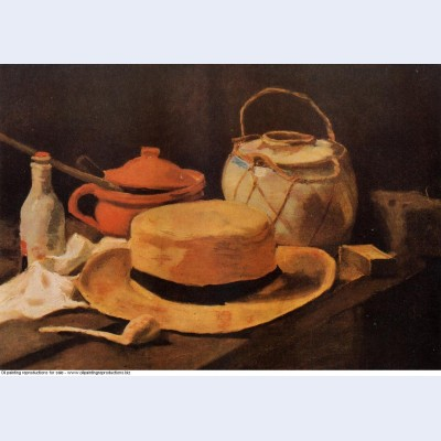 Still life with yellow hat 1885