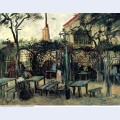 Terrace of a cafe on montmartre la guinguette 1886