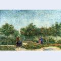 The voyer d argenson park in asnieres 1887