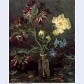 Vase with myosotis and peonies 1886