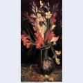 Vase with red gladioli 1886 1