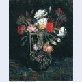 Vase with white and red carnations 1887