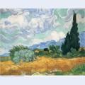 Wheatfield with cypress tree 1889