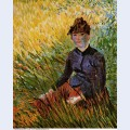 Woman sitting in the grass 1887
