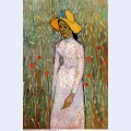 Young girl standing against a background of wheat 1890