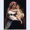 Woman of cervara and her child 1861