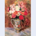Flowers in a quimper pitcher