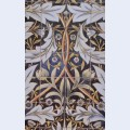 Panel of ceramic tiles designed by morris and produced by william de morgan