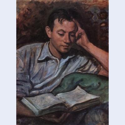 Alexander serebryakov reading a book