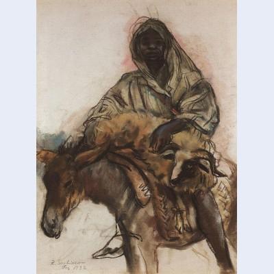 Arab on a donkey