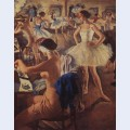 In the dressing room ballet swan lake