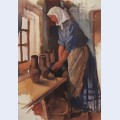 Peasant woman with pots