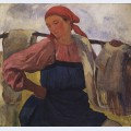 Peasant woman with rocker
