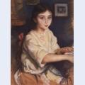 Portrait of o i rybakova in childhood