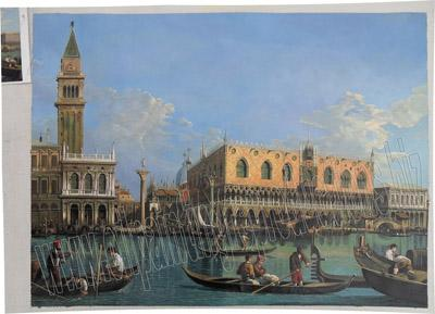 View of the st mark's basin - Oil painting reproduction