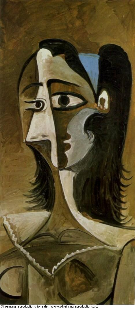 Buste de femme iii 1962 - Pablo Picasso [French] - Oil painting ...