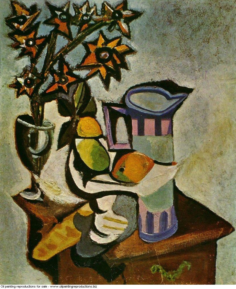 Nature morte 1936 - Pablo Picasso [French] - Oil painting ...
