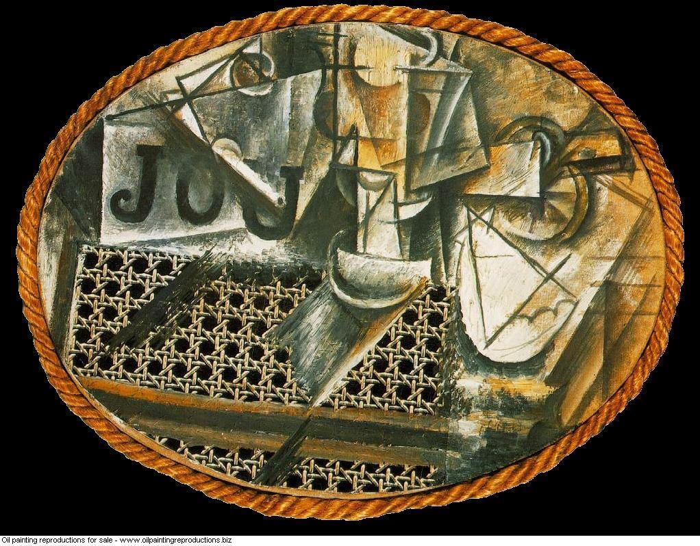 Nature morte a la chaise cannee 6 - Pablo Picasso [French