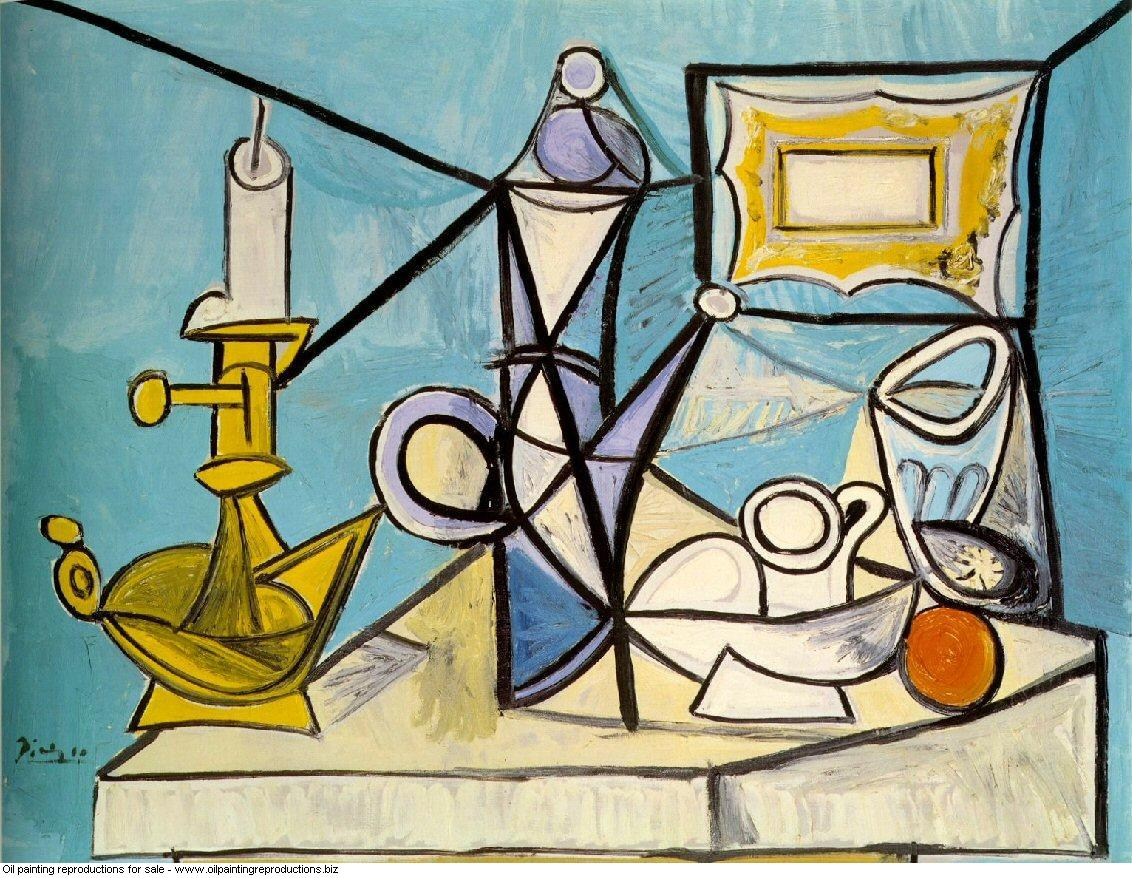 Nature morte au bougeoir r1 1944 - Pablo Picasso [French] - Oil ...