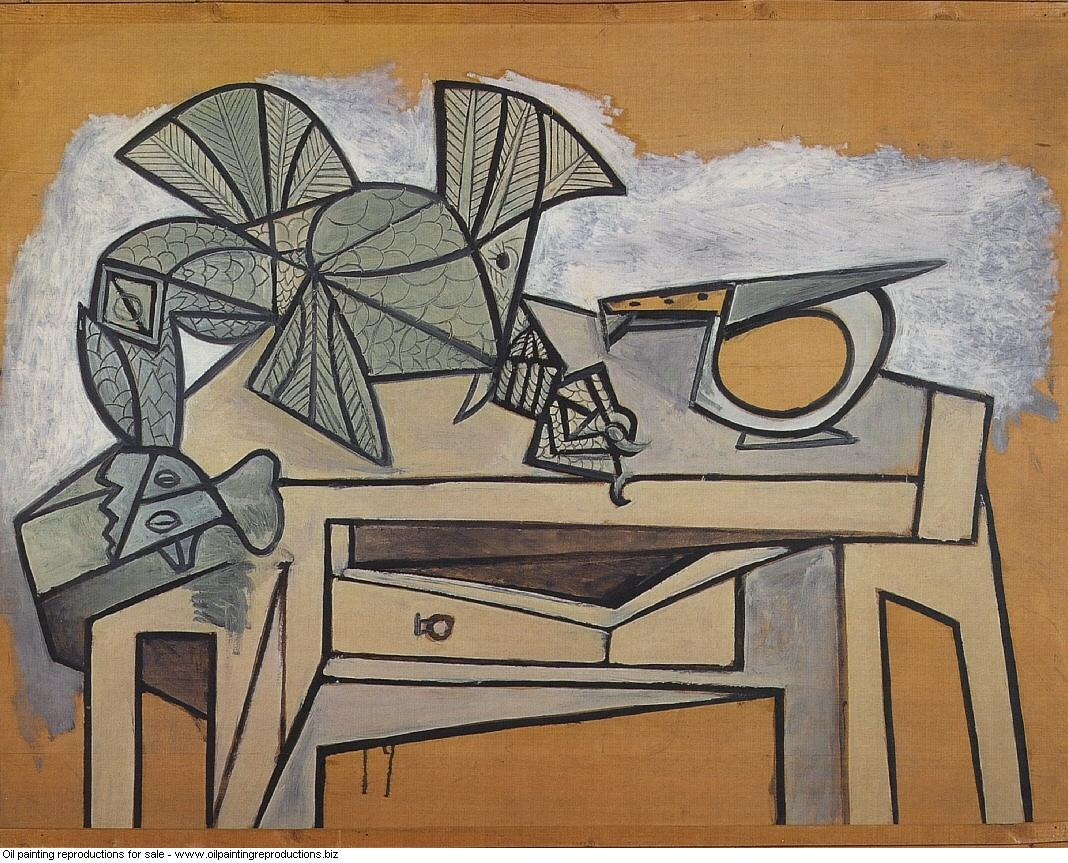 Nature morte au coq et au couteau 1947 - Pablo Picasso [French ...