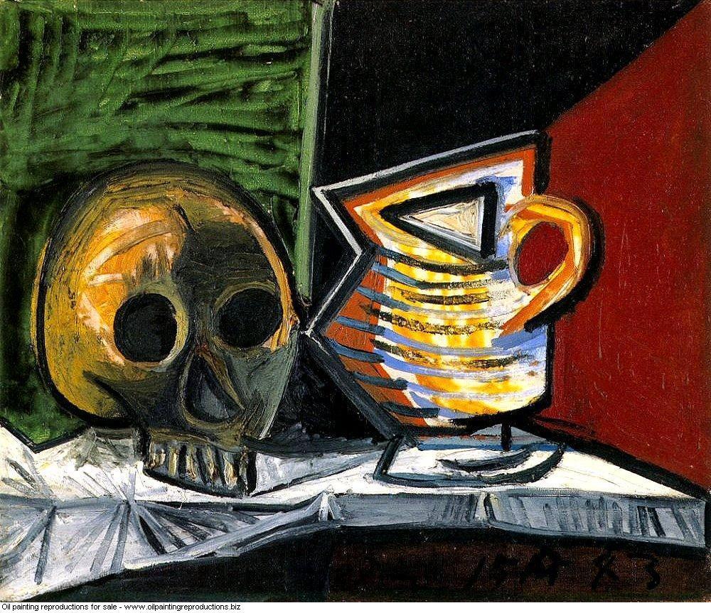 Nature morte au crane et au pot 1 1943 - Pablo Picasso [French ...