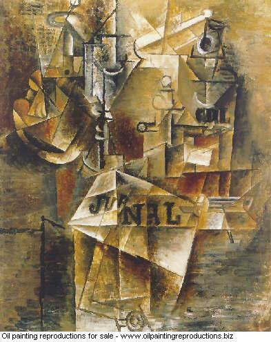 Nature morte au journal 1912 - Pablo Picasso [French] - Oil ...