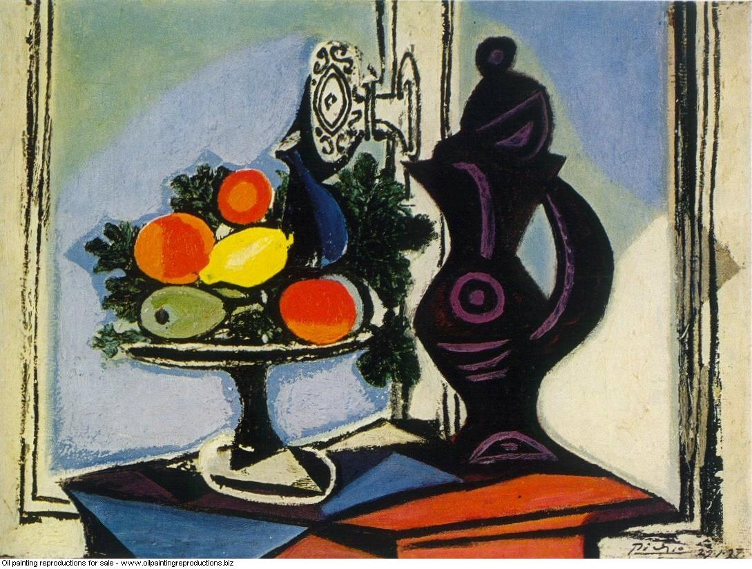 Nature morte au pichet1 1937 - Pablo Picasso [French] - Oil painting ...