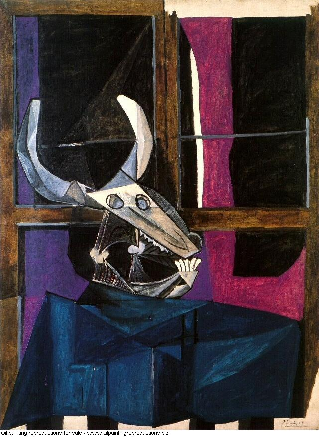 Nature morte avec crane de boeuf 1942 - Pablo Picasso [French] - Oil ...