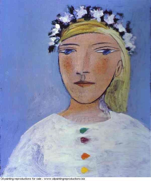 Portrait de femme a la guirlande marie therese couronne de fleurs ...
