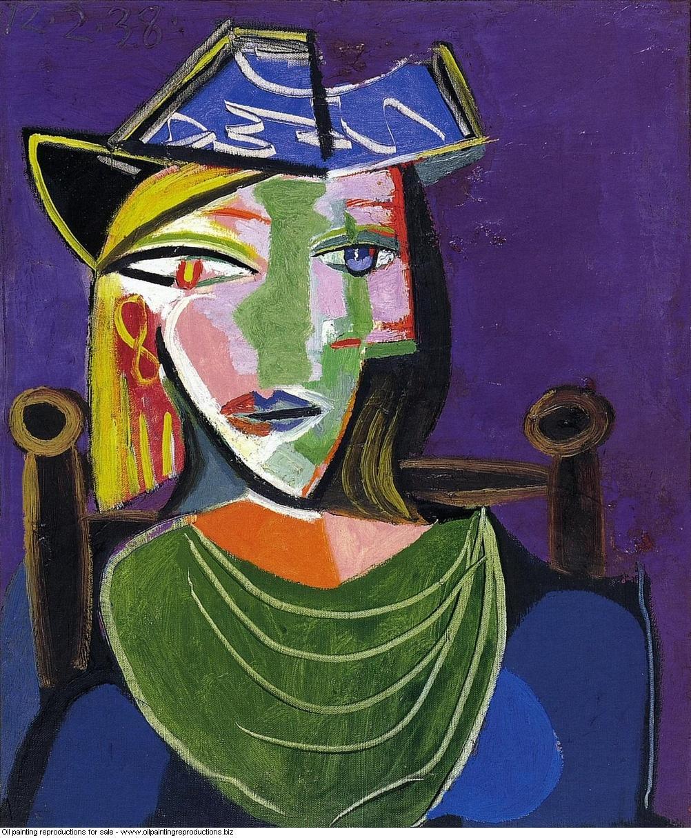 Portrait de femme au col vert marie therese walter 1938 - Pablo ...