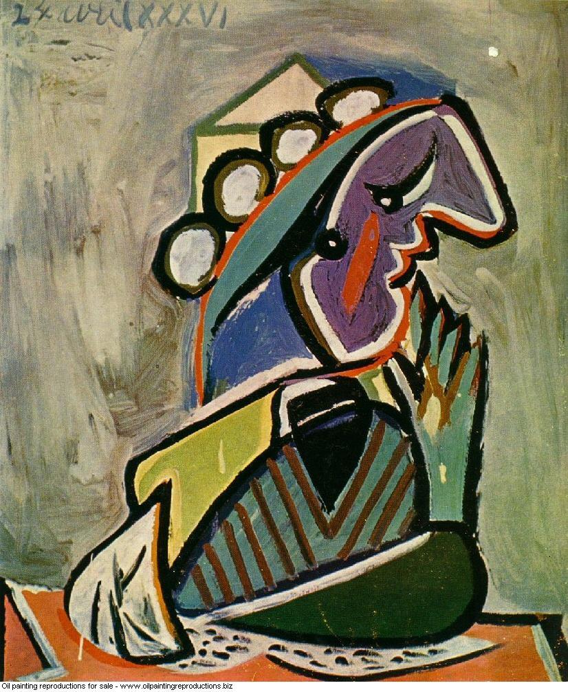 Portrait de femme de profil 1936 - Pablo Picasso [French] - Oil ...