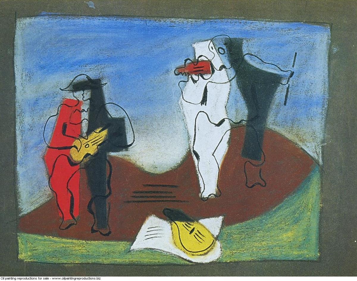Projet pour le rideau arlequin et pierrot 1924 - Pablo Picasso ...