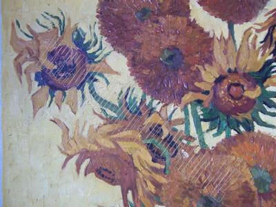 The sunflowers - oil painting reproduction detail 1