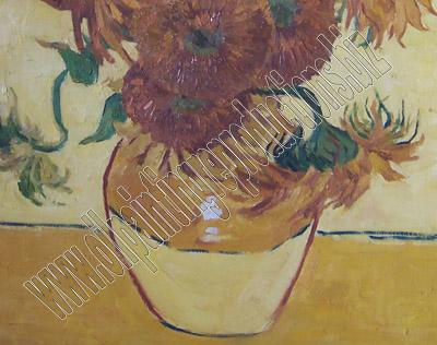 The sunflowers - oil painting reproduction detail 2